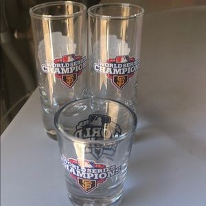 Giants World Series shot glasses